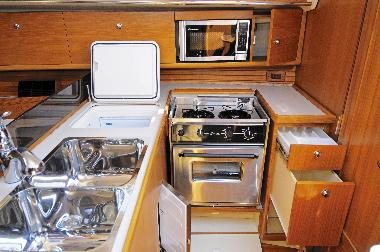 Catalina 355 Test Sail - Galley